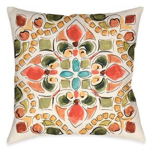 Tuscan Tile II Outdoor Decorative Pillow