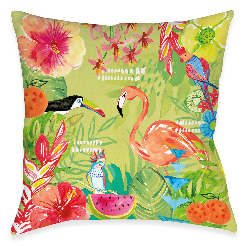 Tutti Fruity Stay Wild Outdoor Decorative Pillow