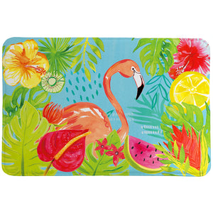 Tutti Fruity Flamingo Memory Foam Rug