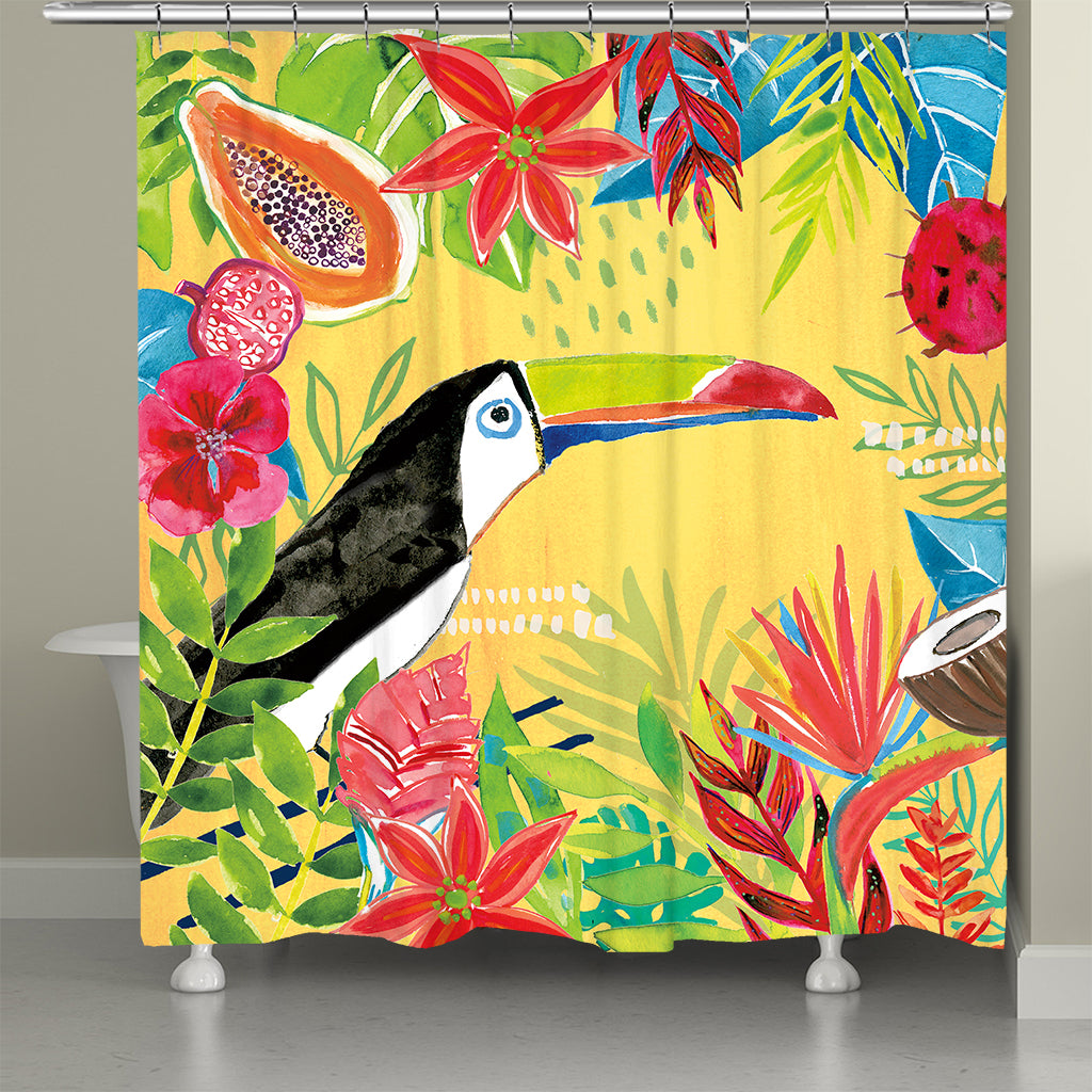 Tutti Fruity Toucan Shower Curtain