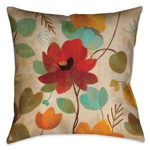 Vibrant Embroidery II Indoor Decorative Pillow