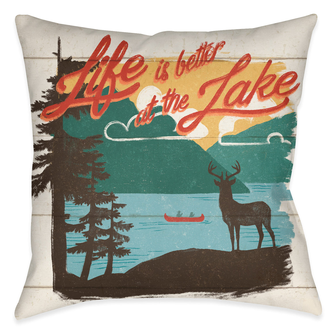Vintage Lakeside II Outdoor Decorative Pillow