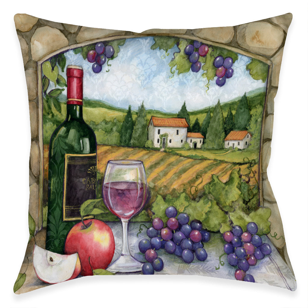 Vineyard Views Outdoor Decorative Pillow