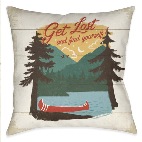 Vintage Lakeside III Outdoor Decorative Pillow