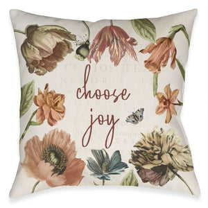 Vintage Bloom Joy Indoor Decorative Pillow