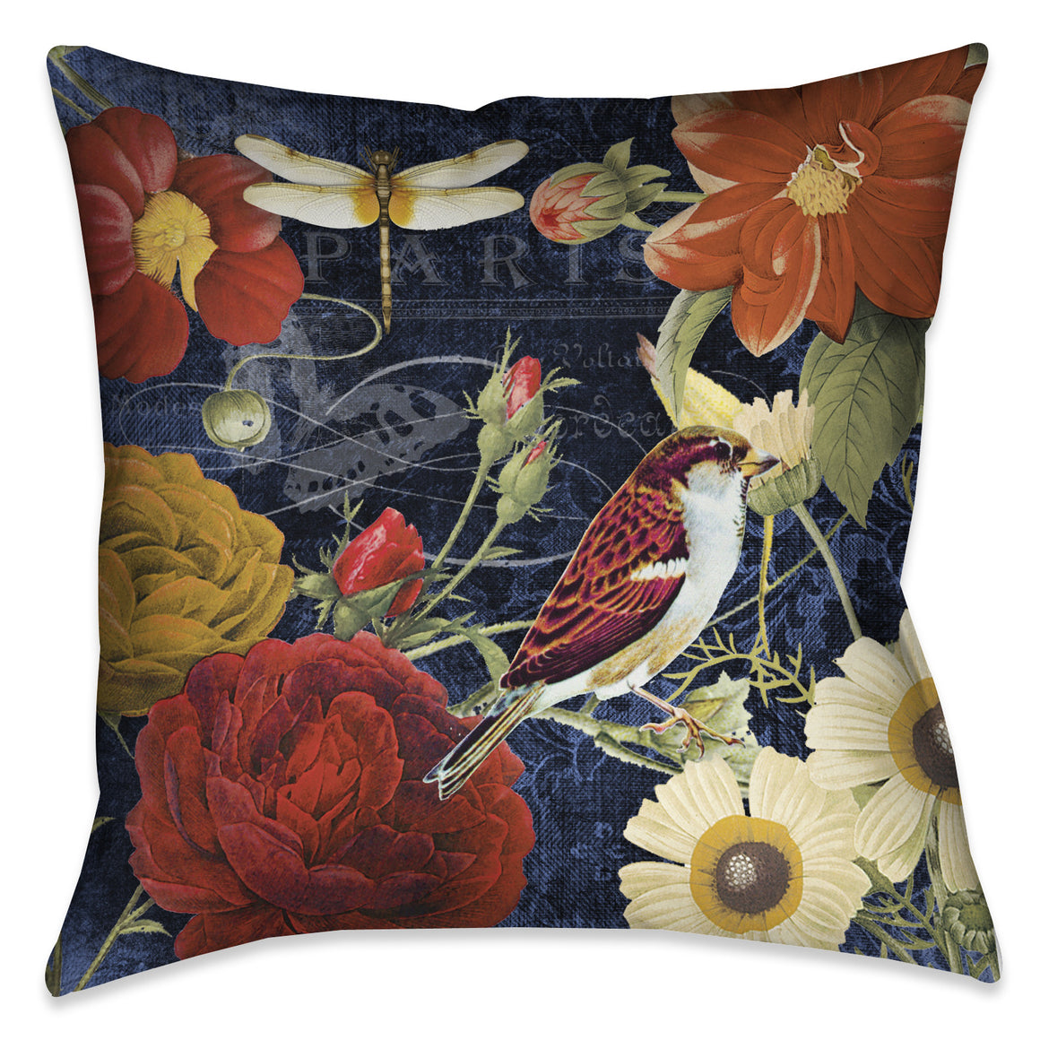 Vintage Floral Indoor Decorative Pillow