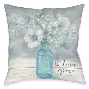 Let Love Grow Indoor Decorative Pillow