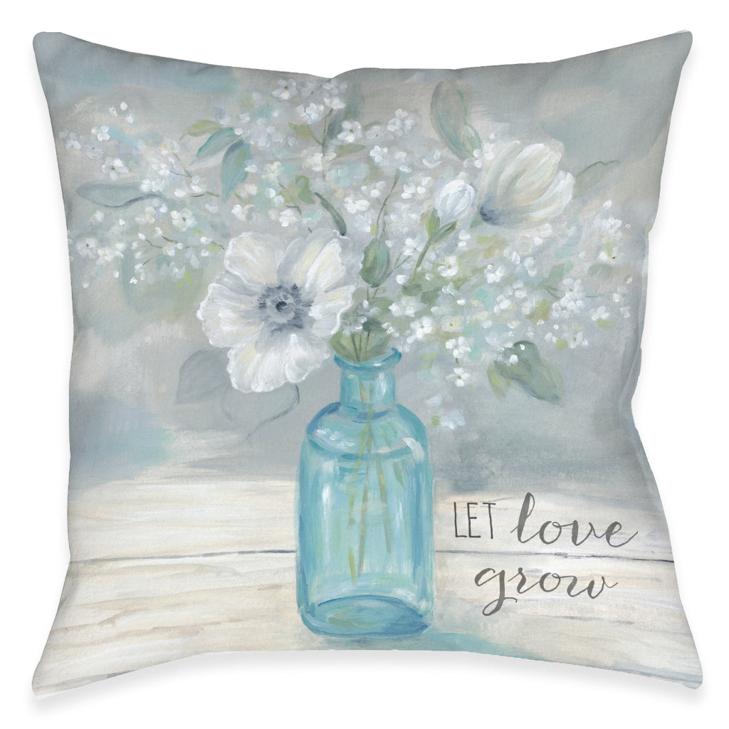Let Love Grow Outdoor Decorative Pillow