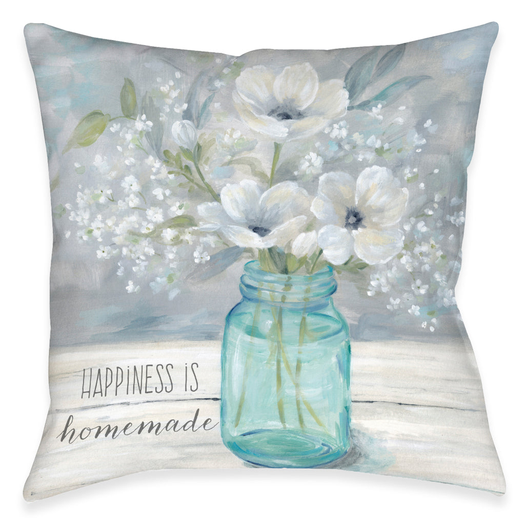 Homemade Happiness Indoor Decorative Pillow