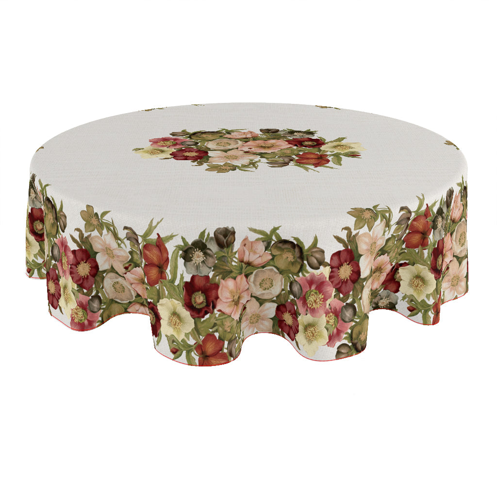 Vintage Petals Round Tablecloth