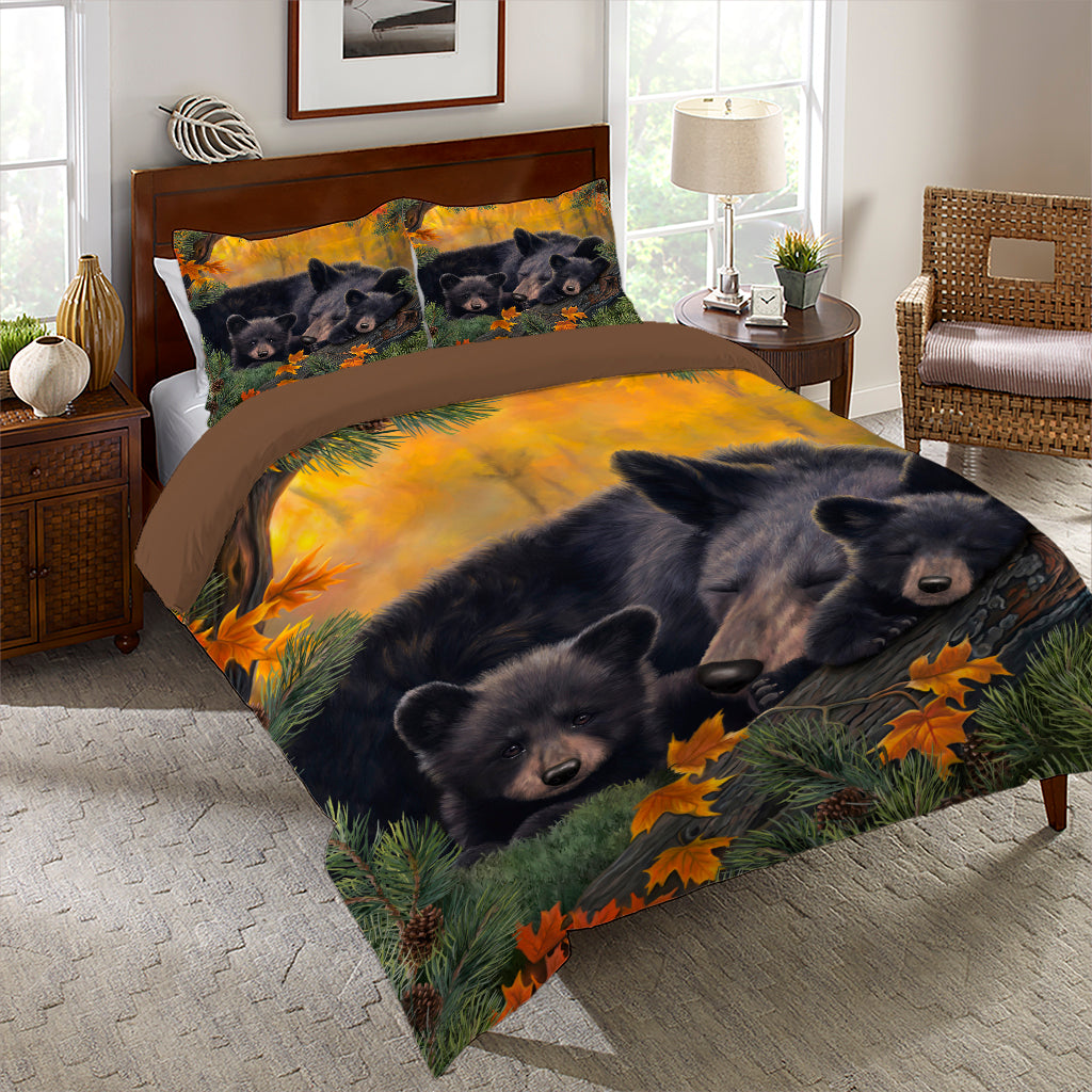 Warm Cozy Bear Comforter Set