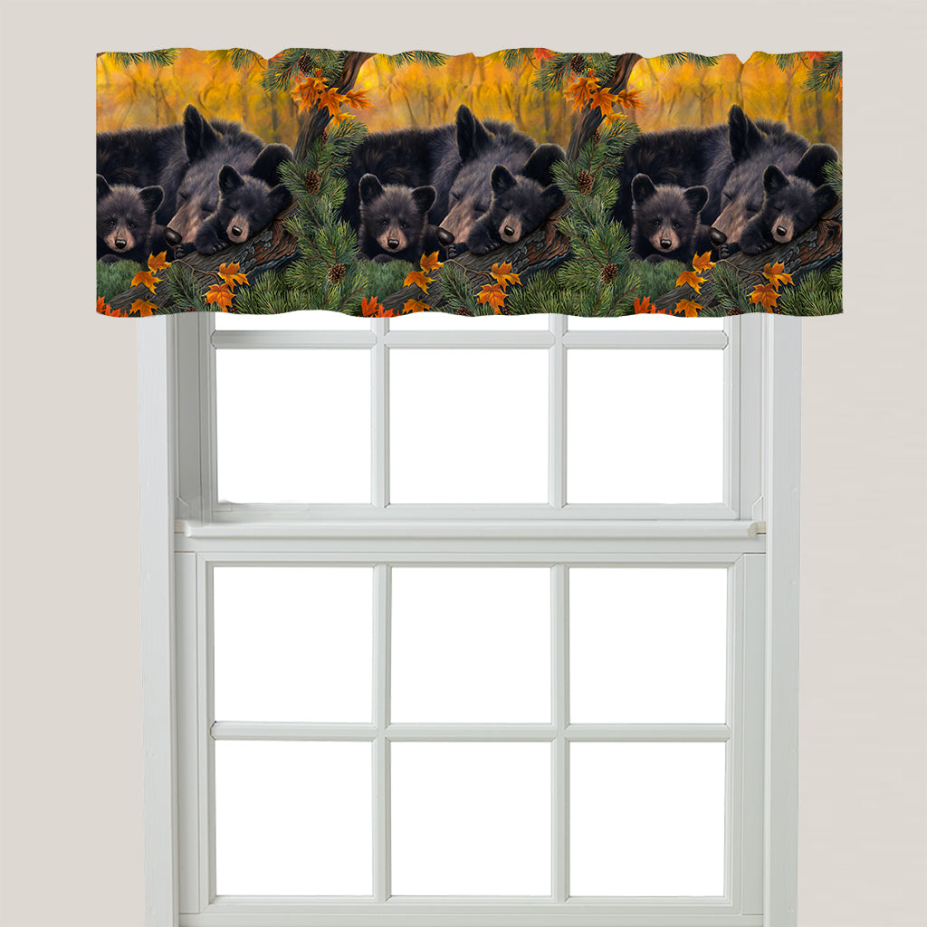 Warm Cozy Bears Window Valance