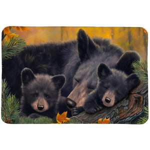 Warm Cozy Bears Memory Foam Rug