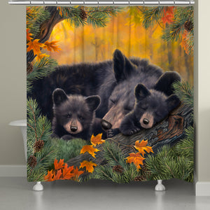 Warm Cozy Bears Shower Curtain