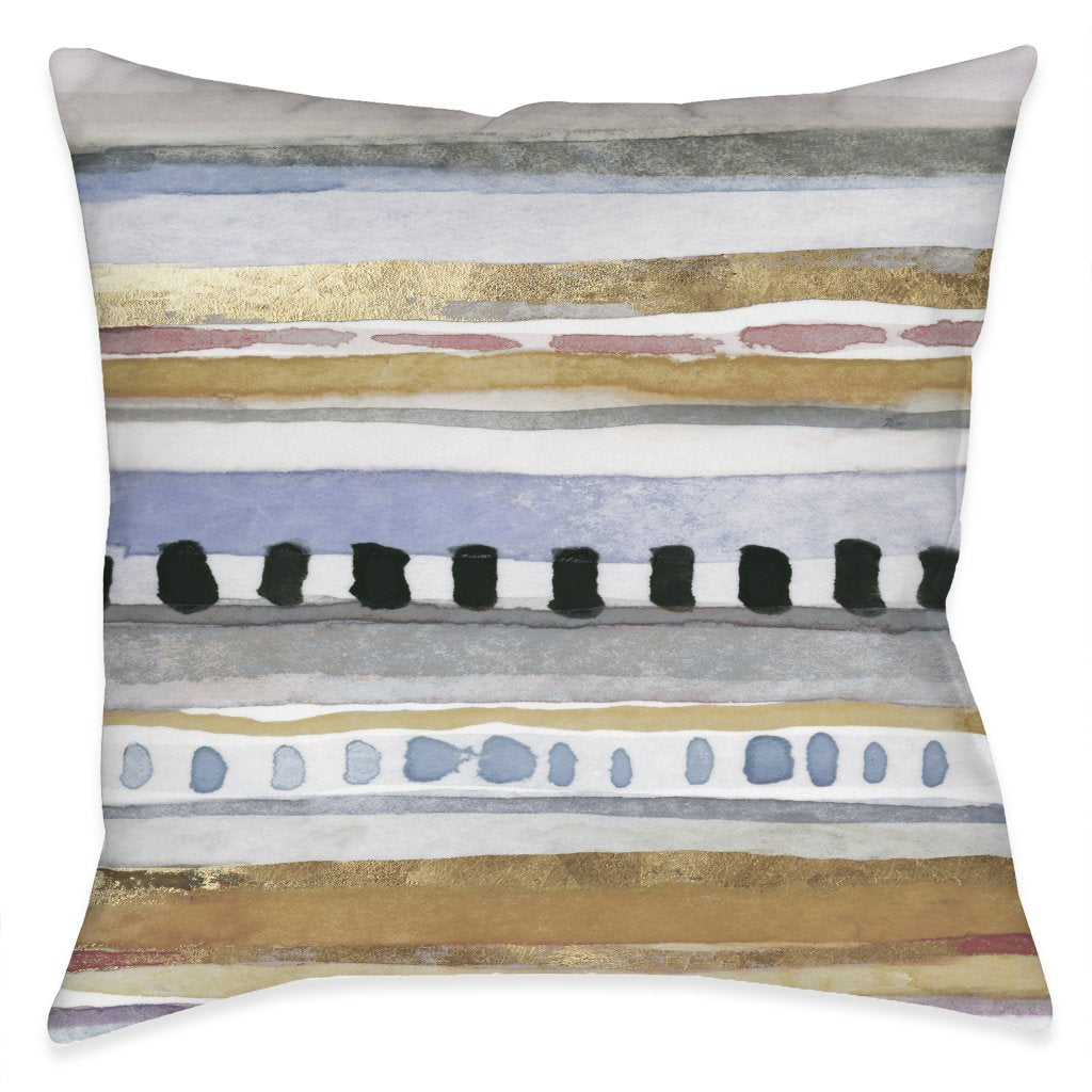 Watercolor Boho Linework Indoor Decorative Pillow