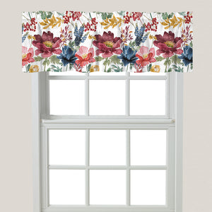 Watercolor Fall Window Valance