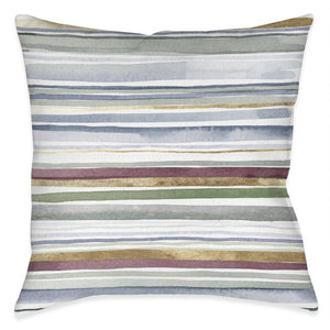 Watercolor Linework Outdoor Decorative Pillow