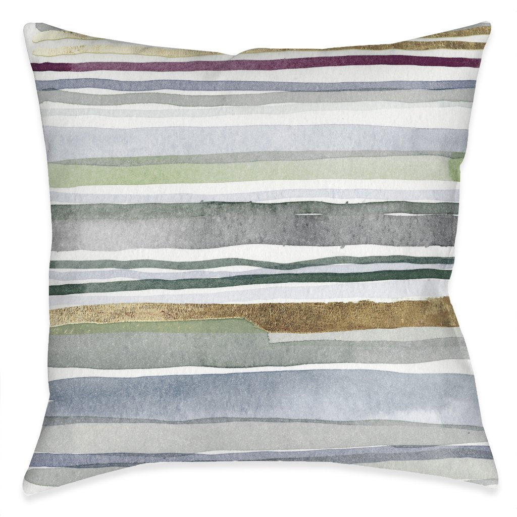 Watercolor Organic Lines Outdoor Decorative Pillow