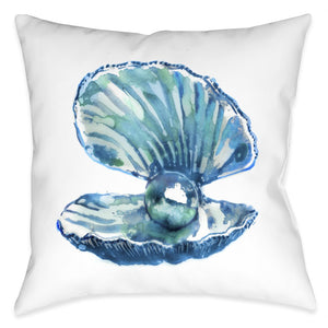 Watercolor Oyster Outdoor Decorative Pillow