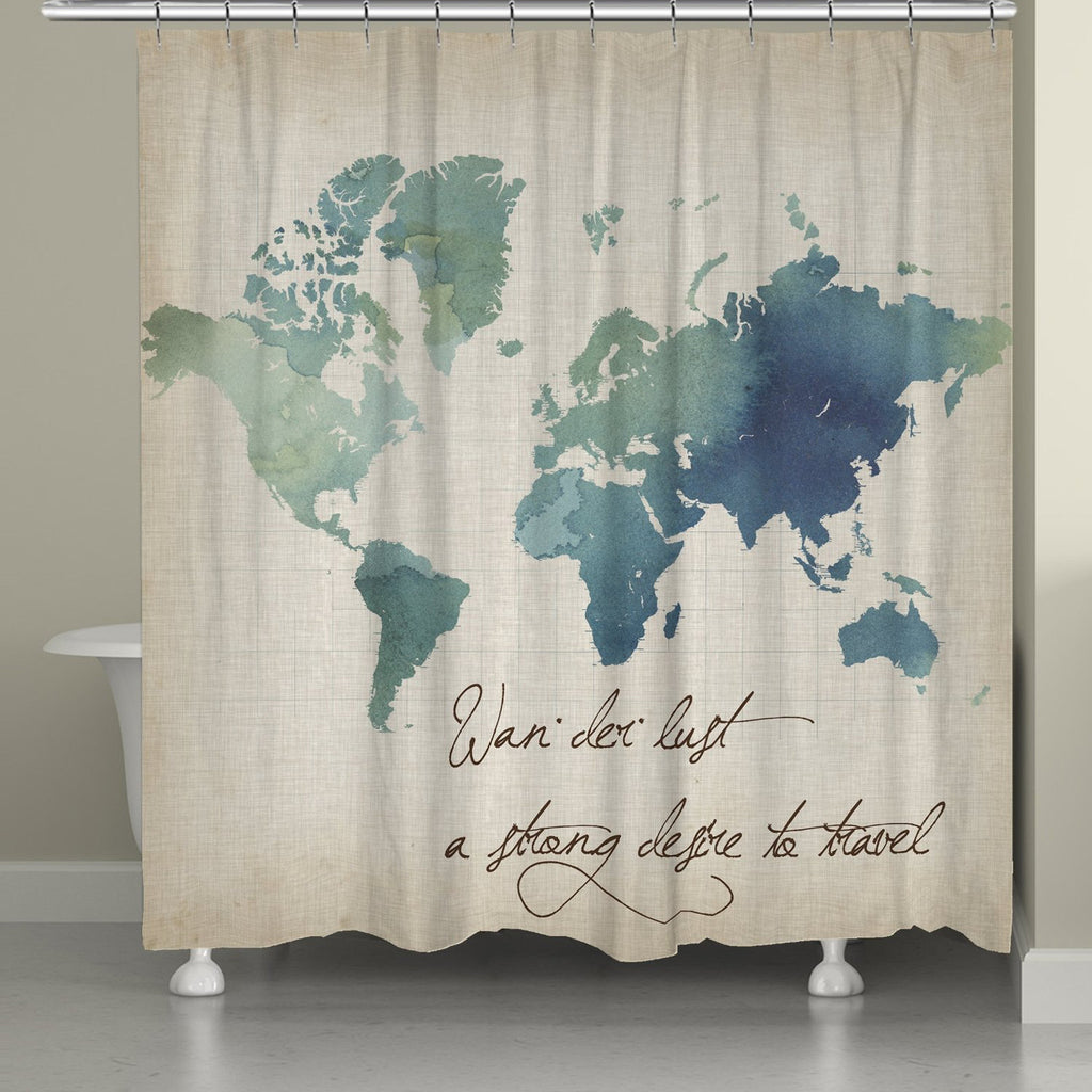Watercolor Wanderlust Shower Curtain Laural Home