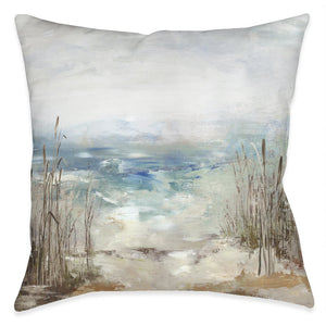 Waves From the Distance Outdoor Decorative Pillow