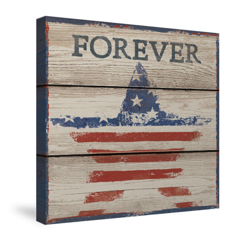 American Flag - Forever Canvas Wall Art