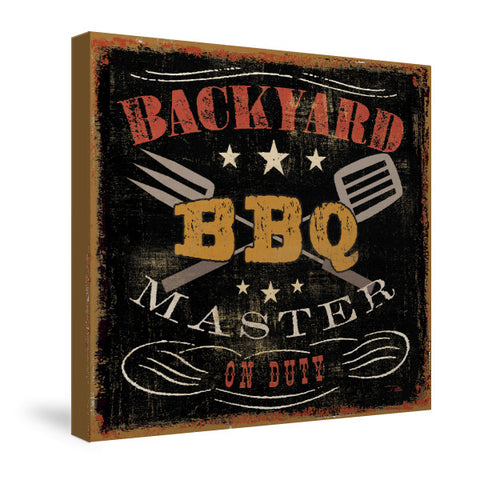 Backyard BBQ Canvas Wall Art