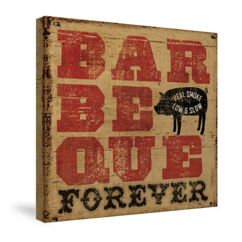Barbecue Forever Canvas Wall Art