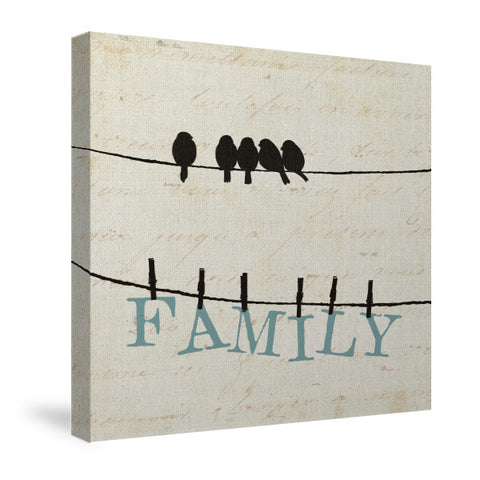 Bird Talk III Canvas Wall Art