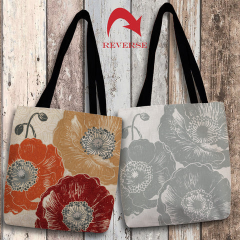 A Poppy's Touch III Canvas Tote Bag