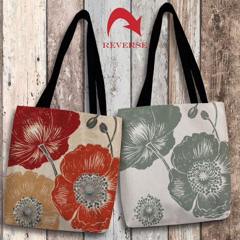 A Poppy's Touch II Canvas Tote Bag