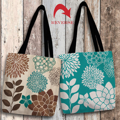 Abstract Garden Blue I Canvas Tote Bag
