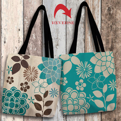 Abstract Garden Blue II Canvas Tote Bag