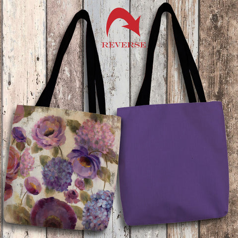 Precious Purples and Blues III Canvas Tote Bag