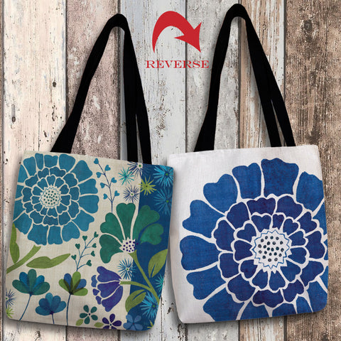 Blue Garden II Canvas Tote Bag