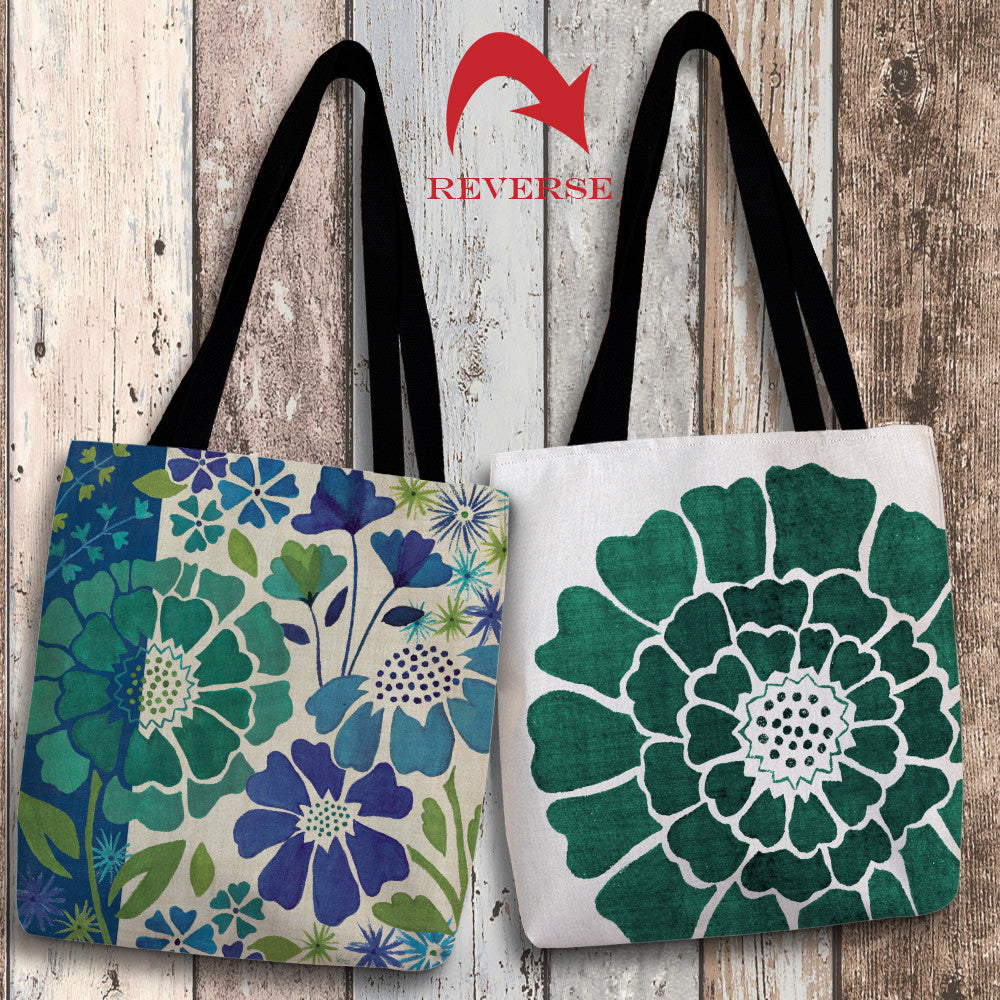 Blue Garden I Canvas Tote Bag