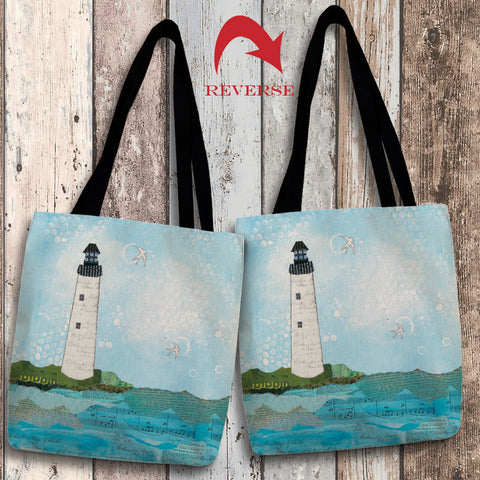 Coastal Notes II Canvas Tote Bag