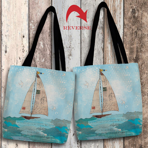Coastal Notes I Canvas Tote Bag
