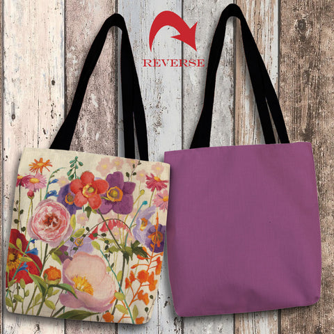Blossoming Printemps II Canvas Tote Bag