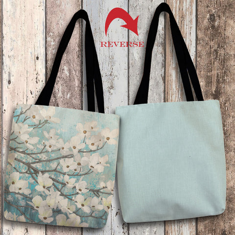 Dogwood Blossoms II Canvas Tote Bag