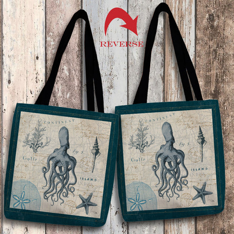 Ocean Life VII Canvas Tote Bag