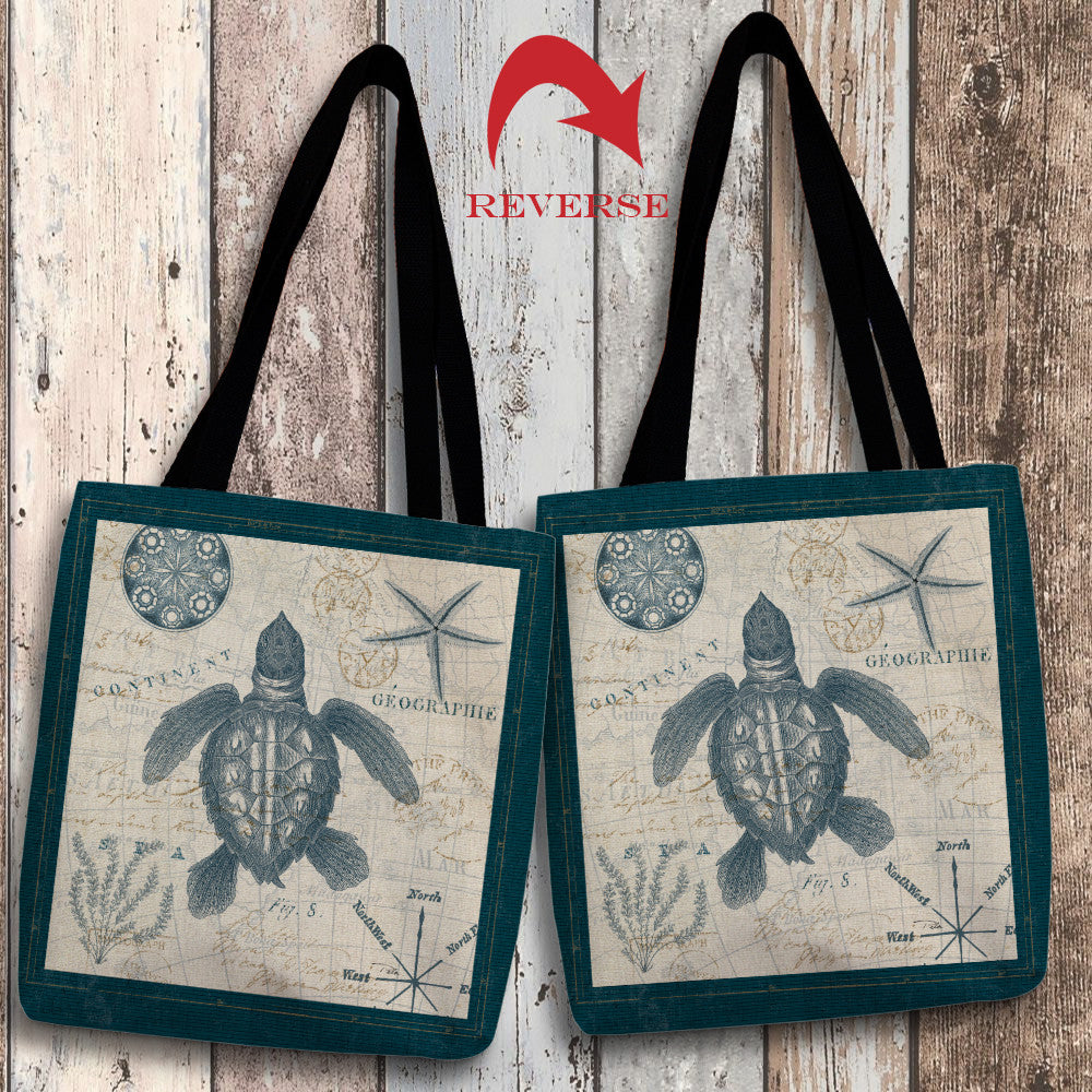 Ocean Life VI Canvas Tote Bag