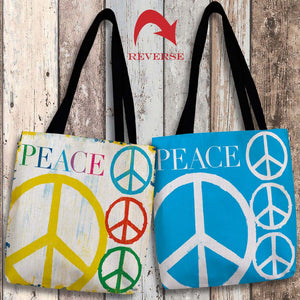 Peace Canvas Tote Bag