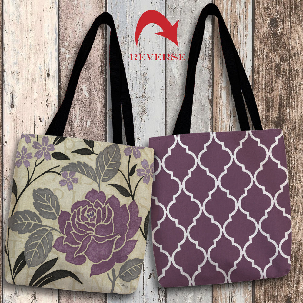 Perfect Petals II Lavender Canvas Tote Bag