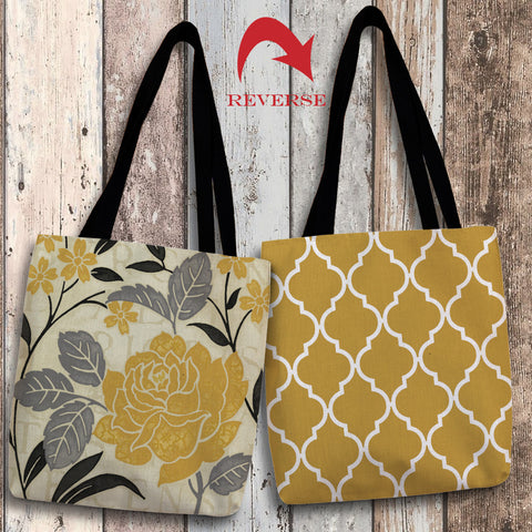 Perfect Petals II Yellow Canvas Tote Bag