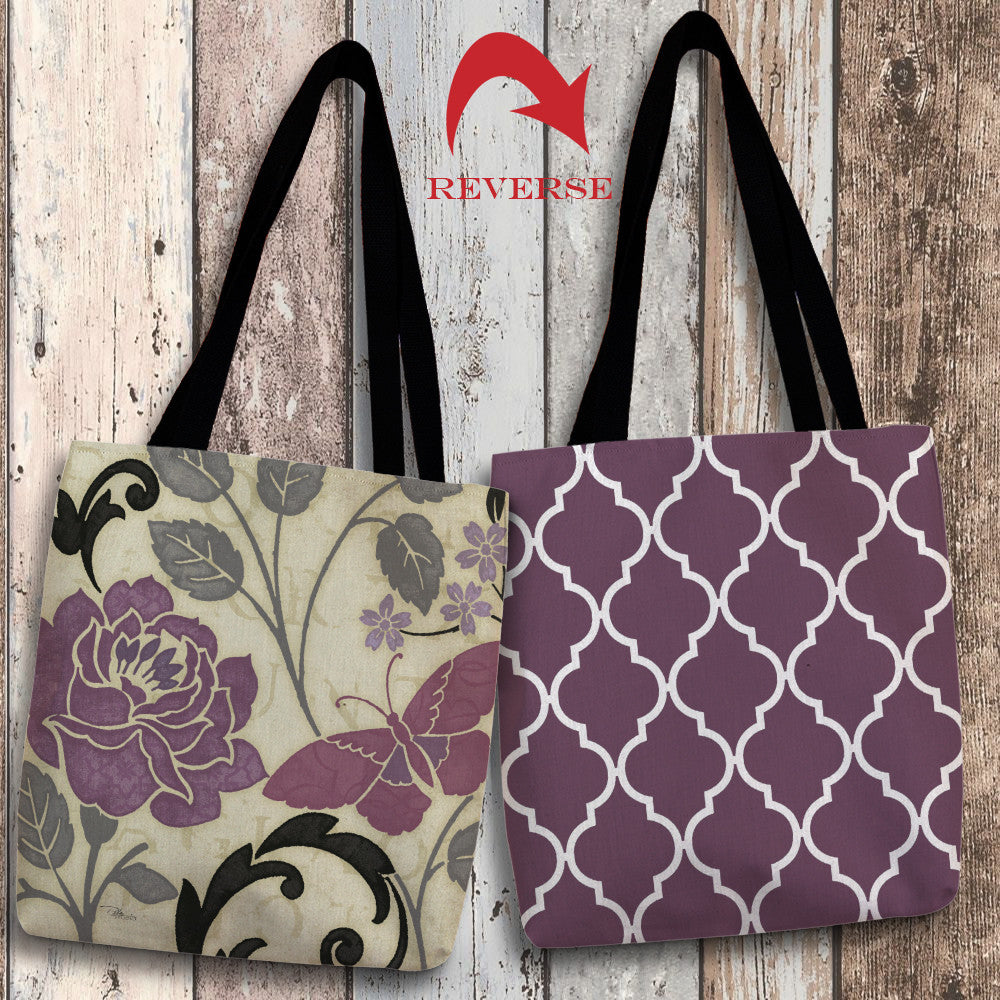 Perfect Petals I Lavender Canvas Tote Bag