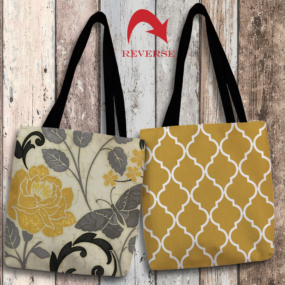 Perfect Petals I Yellow Canvas Tote Bag