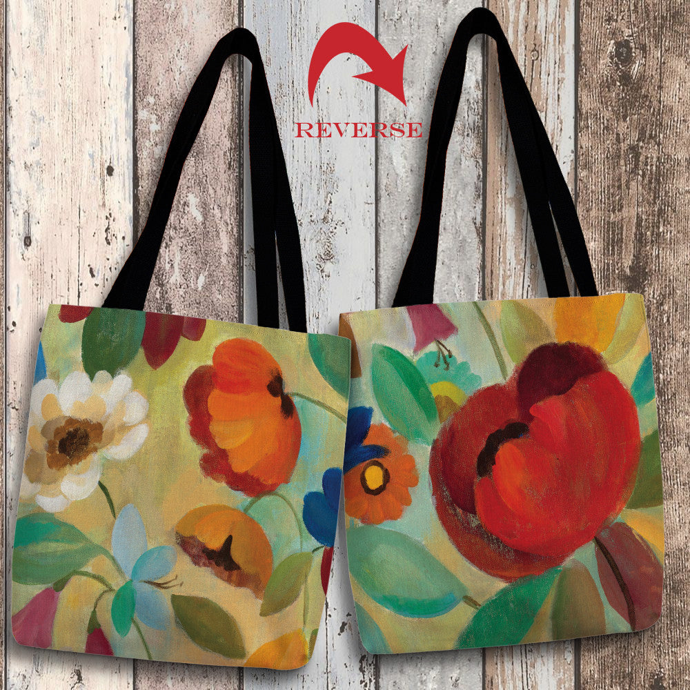 Summer Floral II Canvas Tote Bag