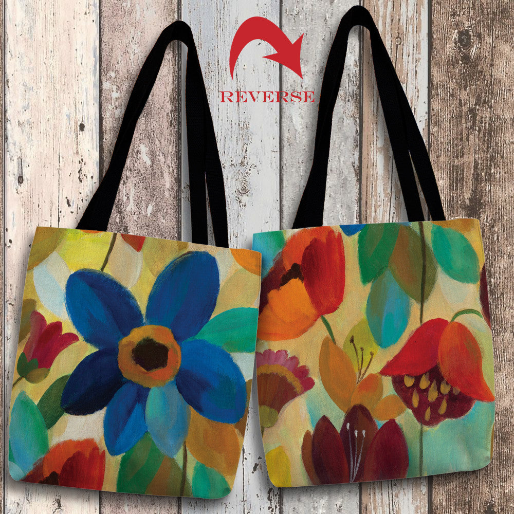Summer Floral I Canvas Tote Bag