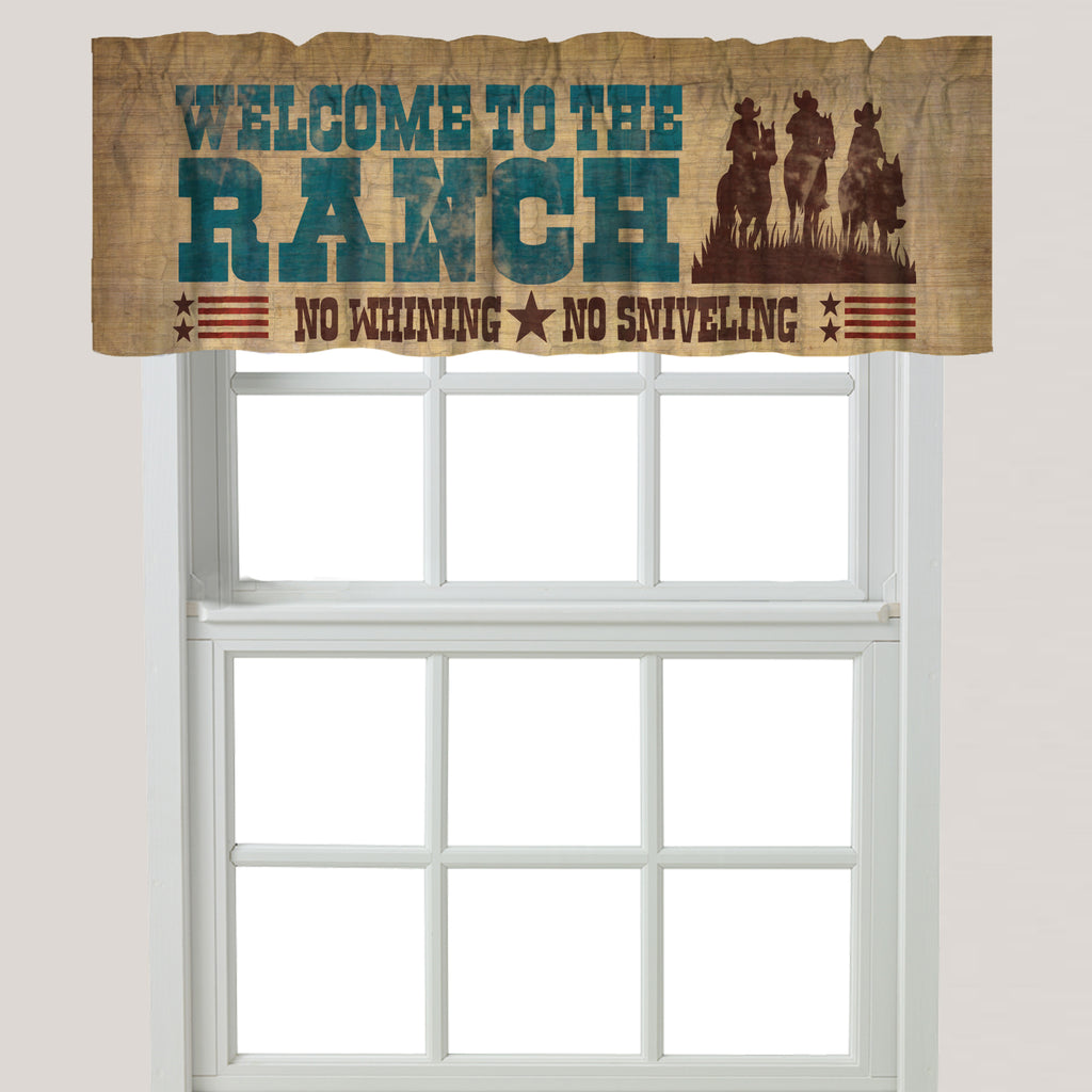 Welcome to the Ranch Window Valance